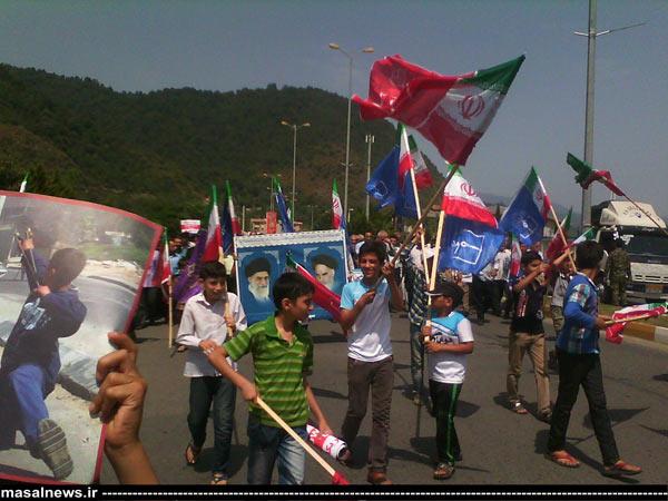 ماسال نیوز راهپیمایی مردم ماسال در روز قدس